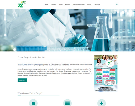 Zorion Drugs & Herbs Pvt. Ltd.